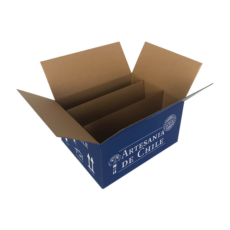 Slotted carton box for wine bottles
