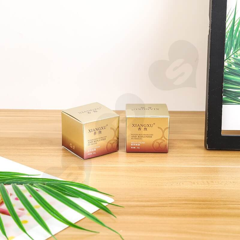 Small Cardboard Retail Box For Skin Repair Cream side view one