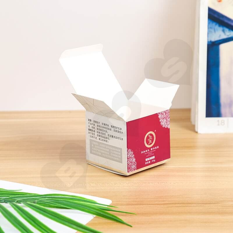 Small Retail Cardboard Packaging Box For Face Cream side view four