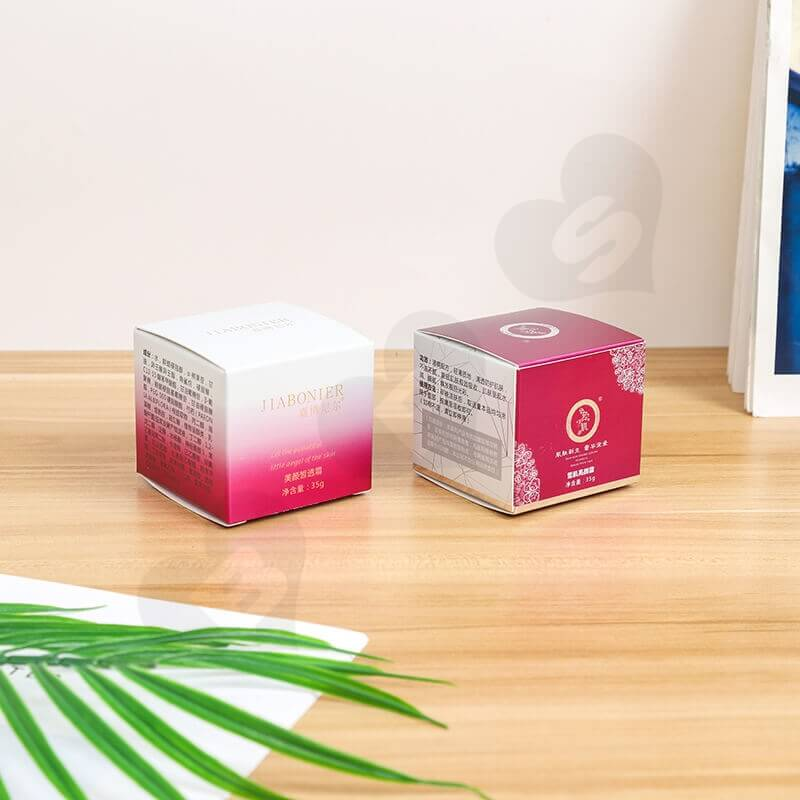 Small Retail Cardboard Packaging Box For Face Cream side view one