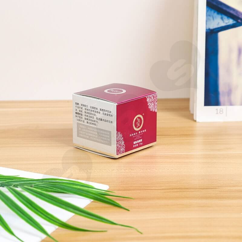 Small Retail Cardboard Packaging Box For Face Cream side view three