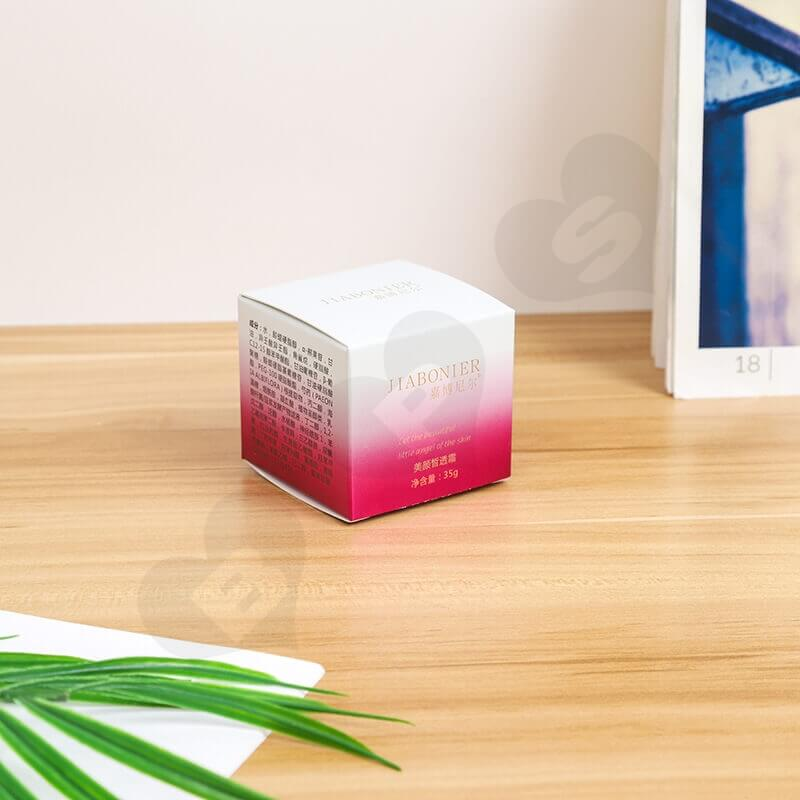 Small Retail Cardboard Packaging Box For Face Cream side view two