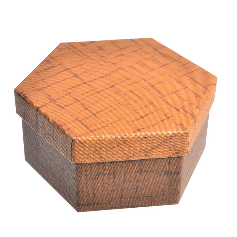 Specialty Textured Hexagon Cardboard Box