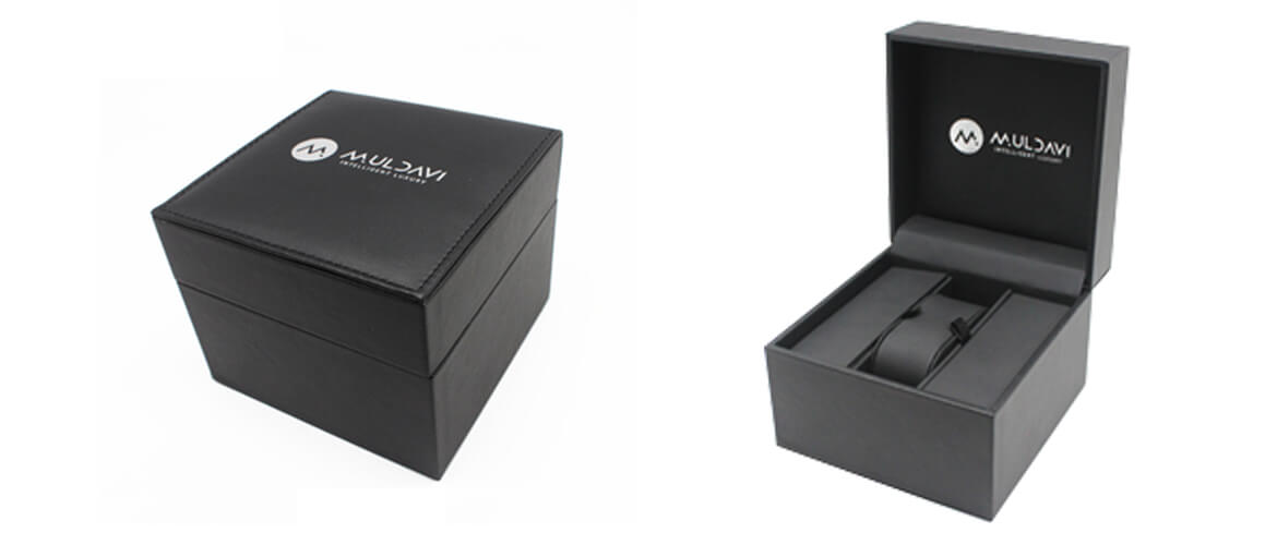 Square shape top and bottom packaging box for children watches