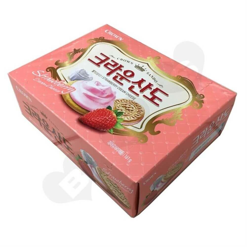 Strawberry Biscuit Packaging Box Sideview One