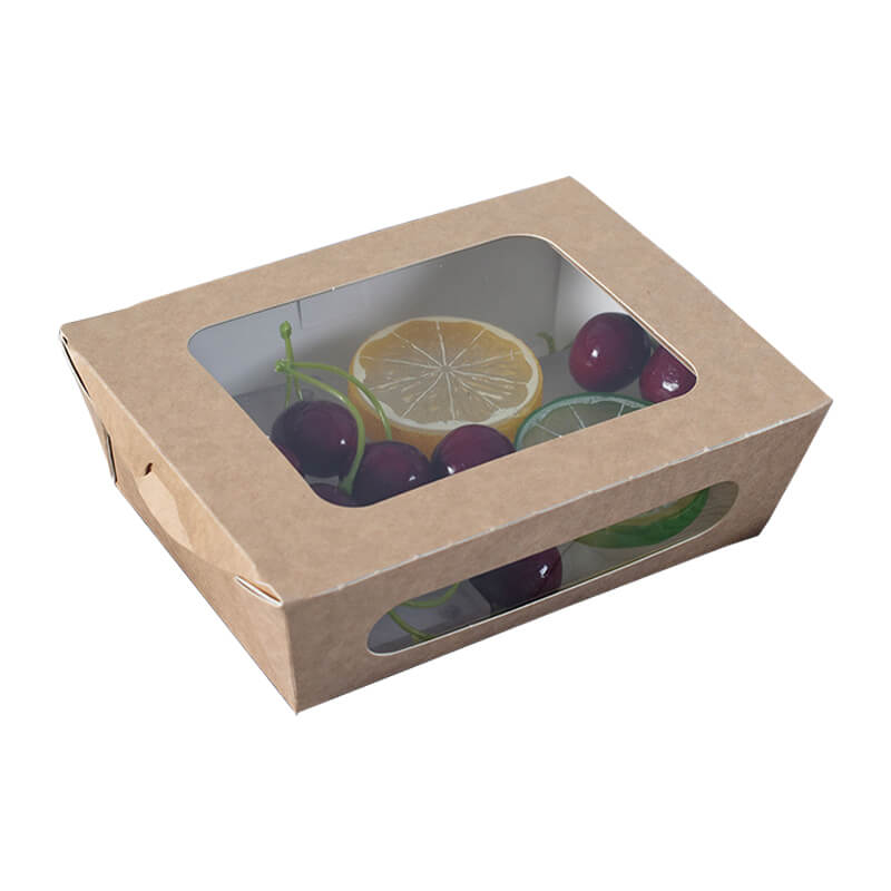 Take Away Food Box With Plastic PET Window