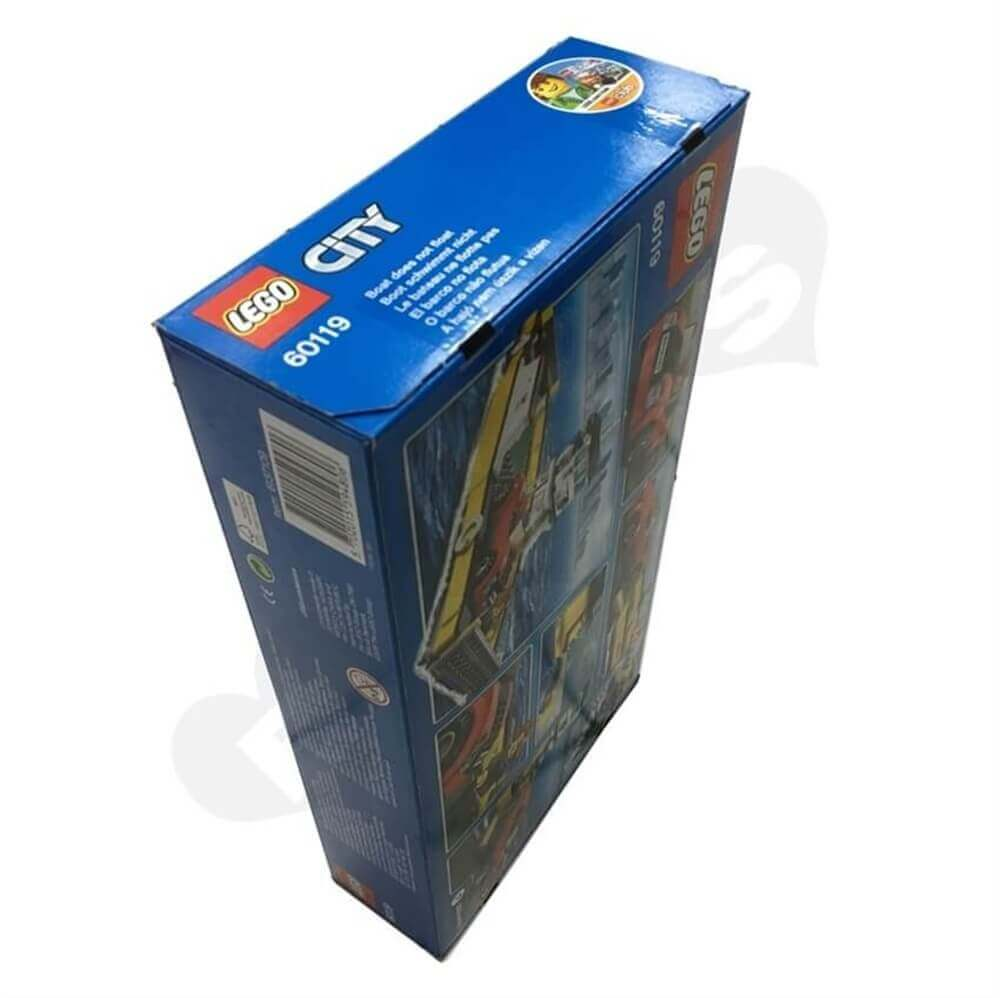 Toy Ship Retail Packaging Box Sideview Three