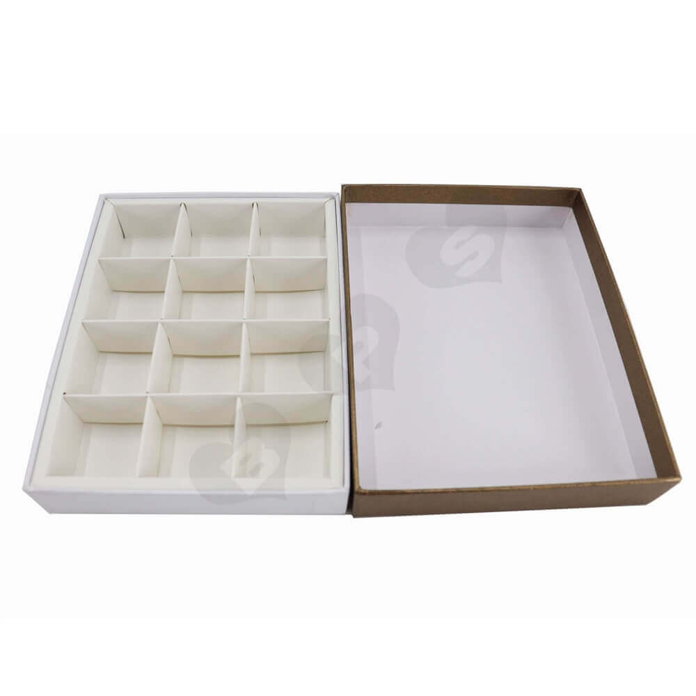 Two Pieces Chocolate Rigid Box Side View Two
