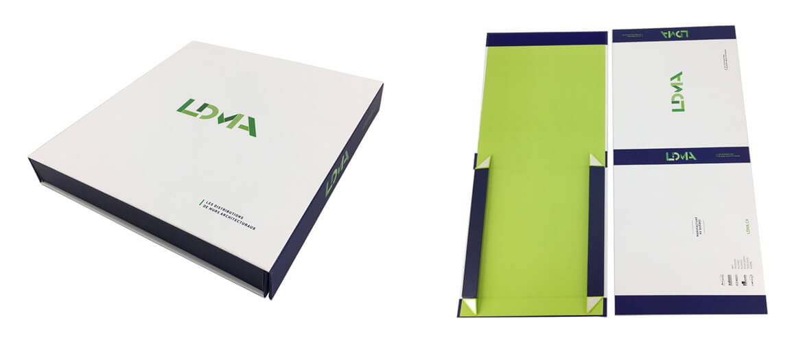 UV Varnished soft-touch rigid gift box collapsible style