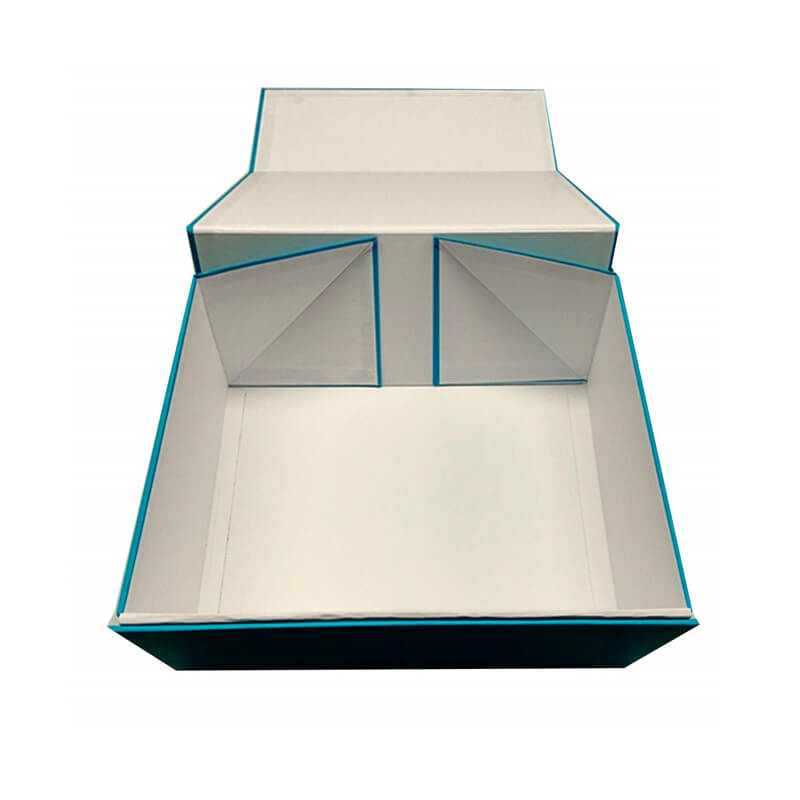 Unfolded collapsible rigid gift box