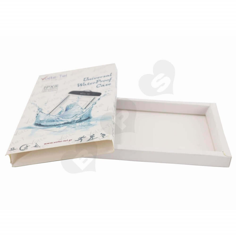 Waterproof Case Packaging Box Display with Spot UV side view three