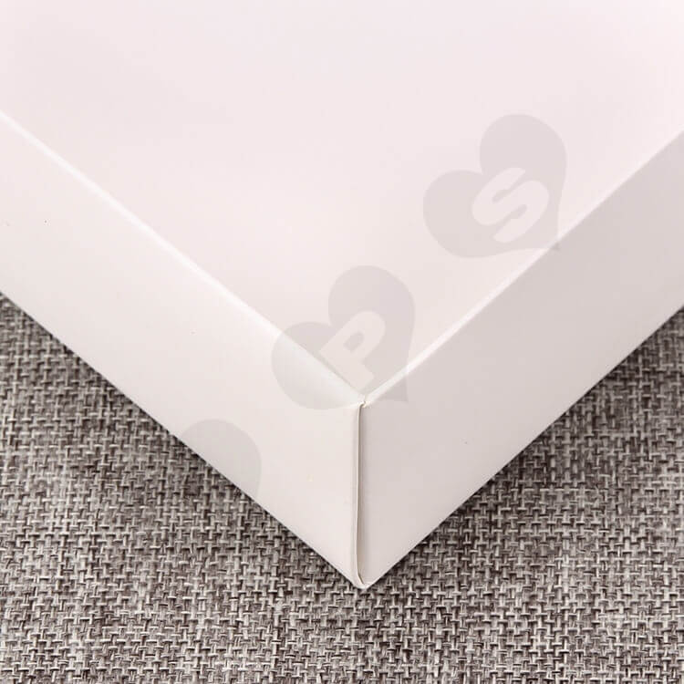 White Cardboard Box With Plastic Window For Clothes side view five