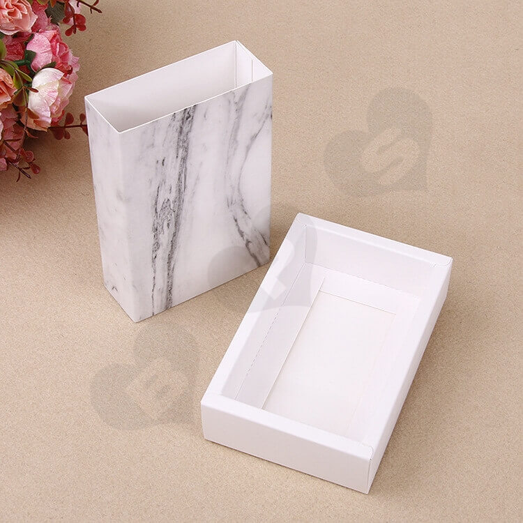 White Cardboard Drawer Box For Marble side view four