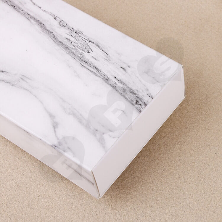 White Cardboard Drawer Box For Marble side view two