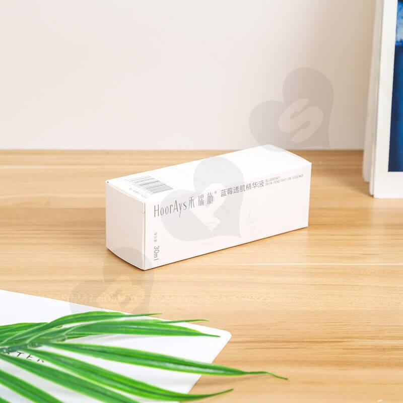 White Cardboard Packaging Box For Isolation Lotion side view four