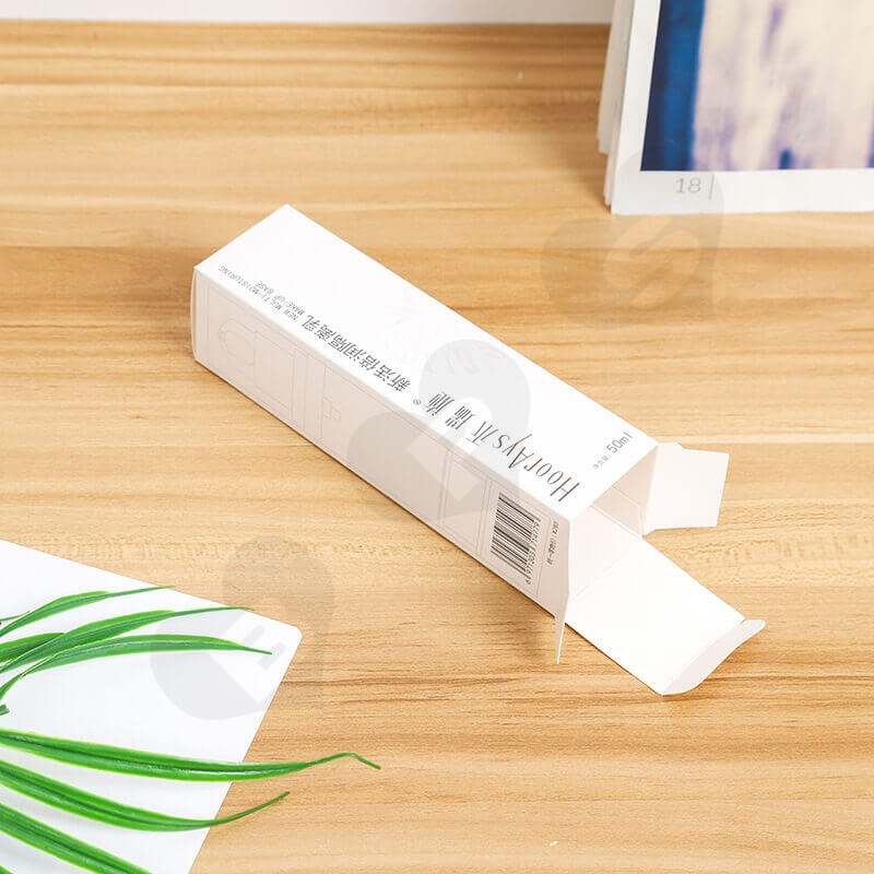 White Cardboard Packaging Box For Isolation Lotion side view six