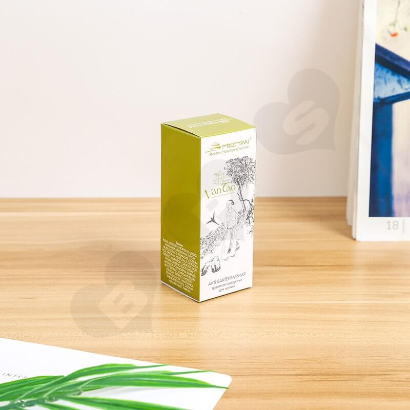 White Cardboard Tuck End Box For Foundation Makeup side view three