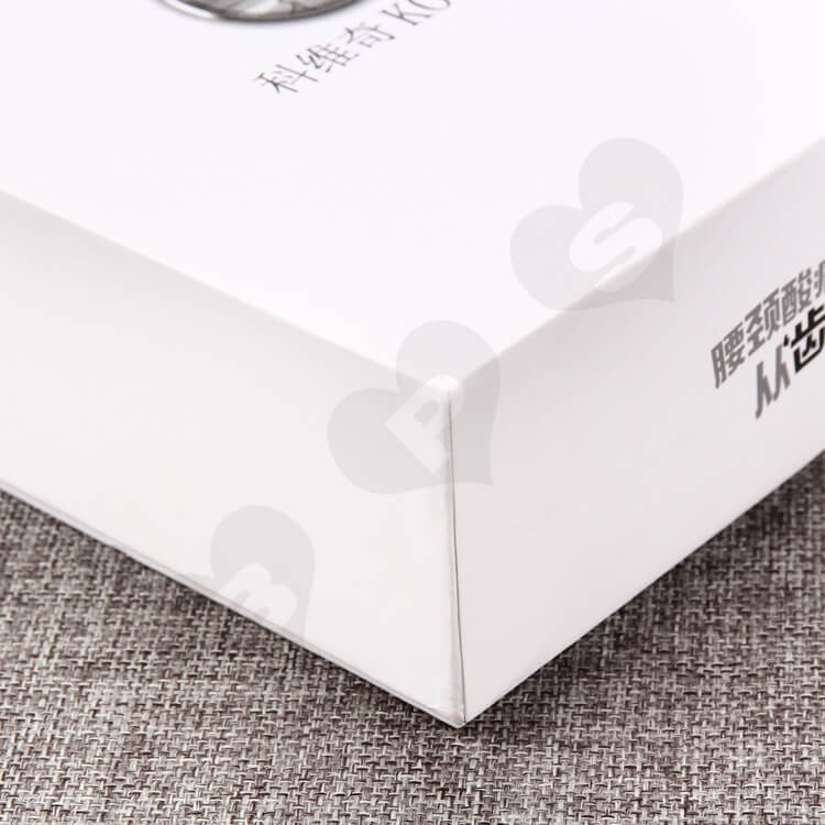 White Rigid Gift Box For Medical Appliances side view four