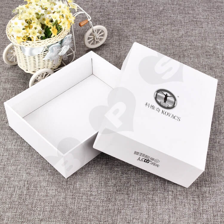 White Rigid Gift Box For Medical Appliances side view one