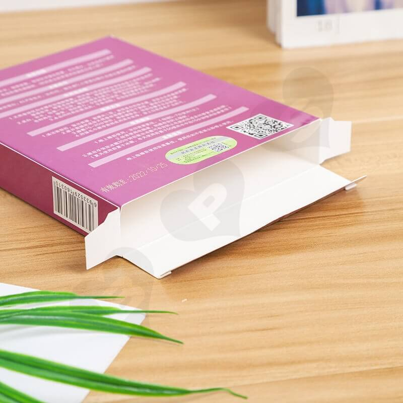 Wholesale Retail Cardboard Box For Facial Cleansing Pad side view five