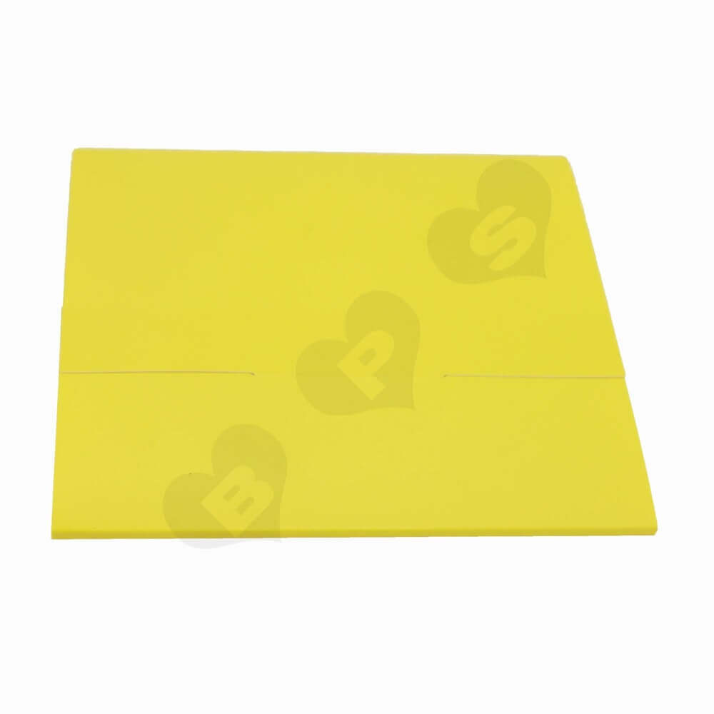 Yellow Paperboard Folders side view three