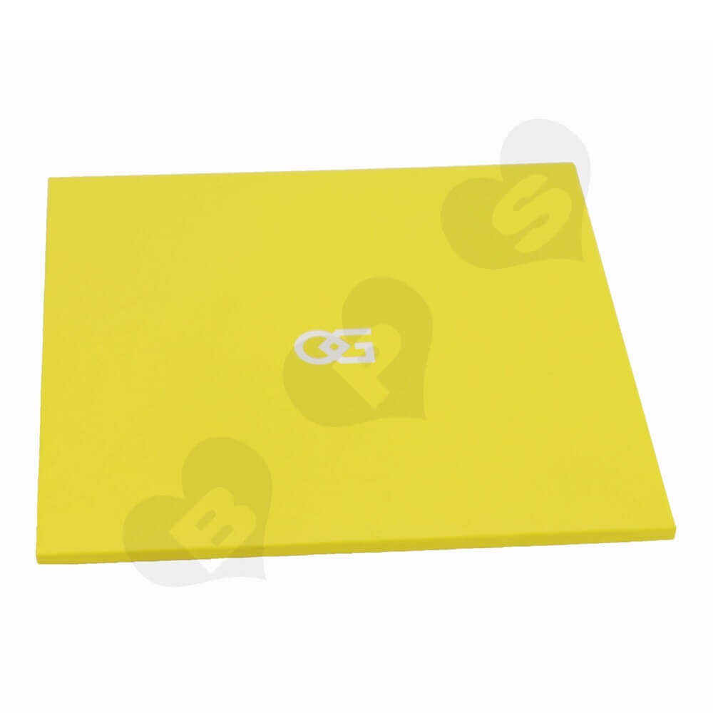 Yellow Paperboard Folders side view two