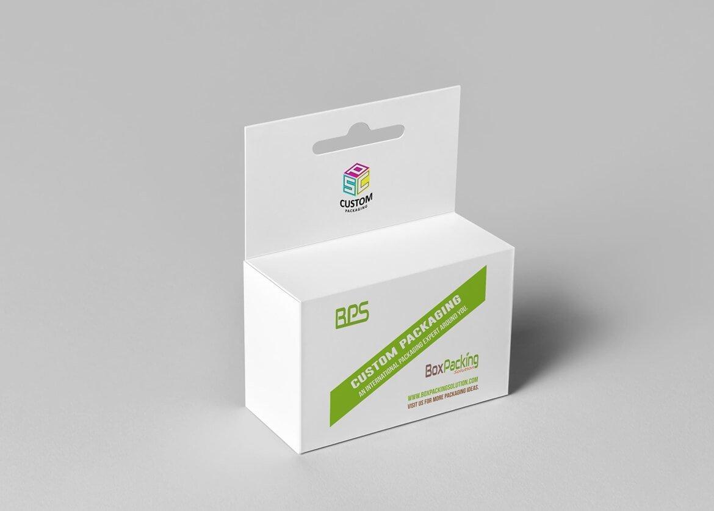 custom box with hangtab mock-up