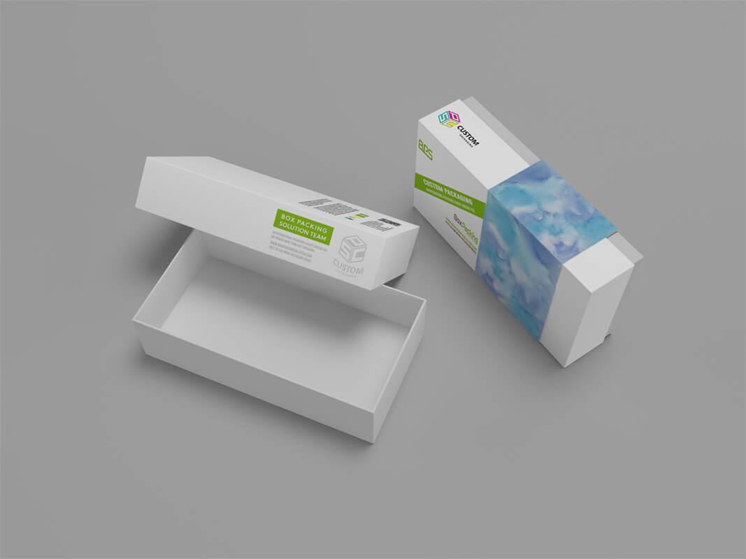 custom cardboard phone box mock-up