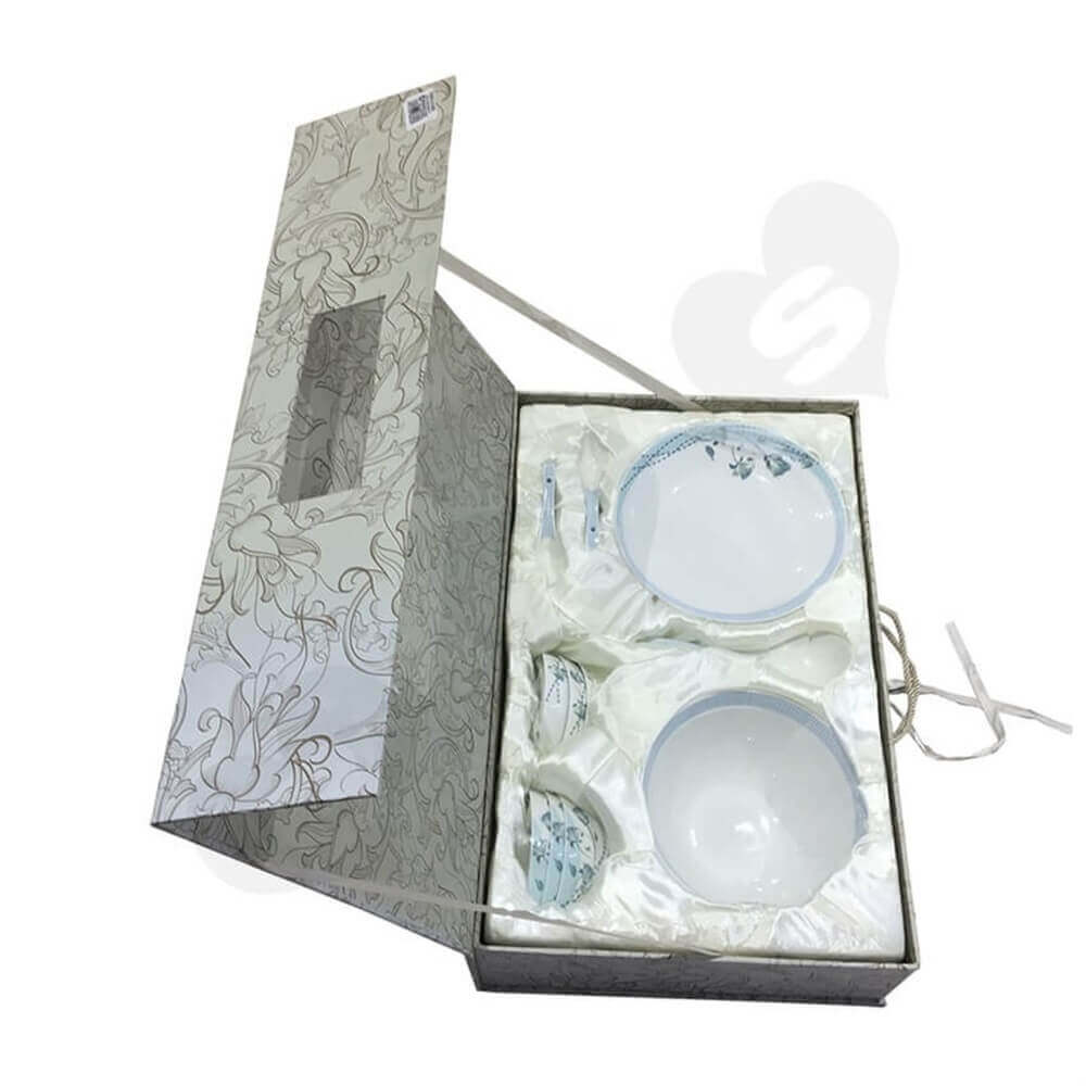 glass bowl packaging box Sideview Five