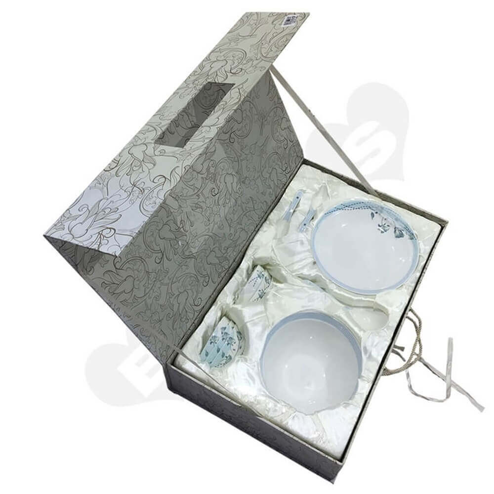 glass bowl packaging box Sideview Four