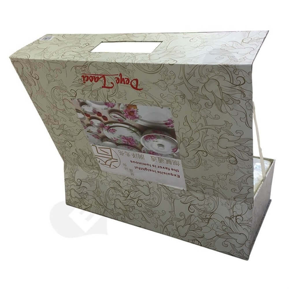 glass bowl packaging box Sideview Seven