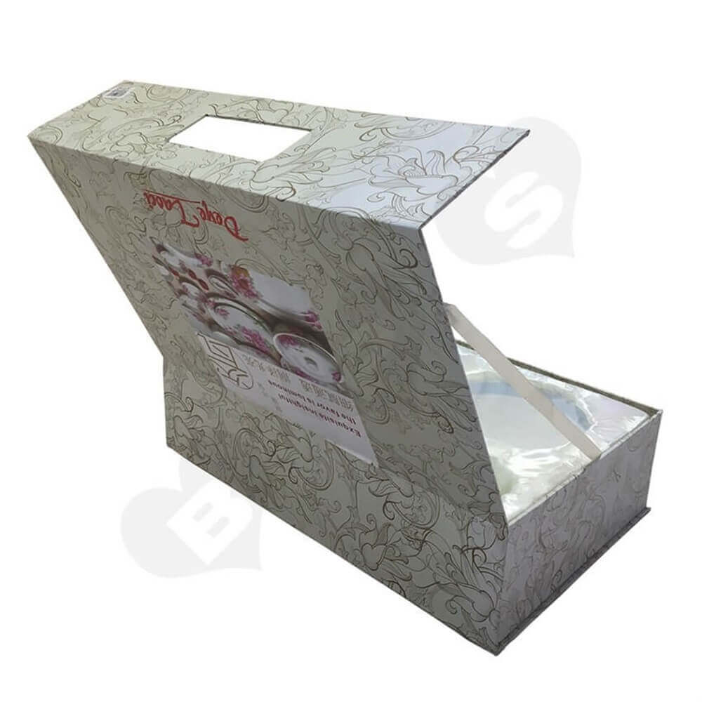 glass bowl packaging box Sideview Six