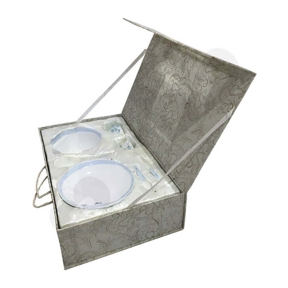glass bowl packaging box Sideview Three