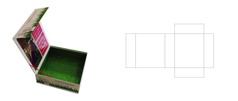 hinged lid rigid boxes dieline For High Heel