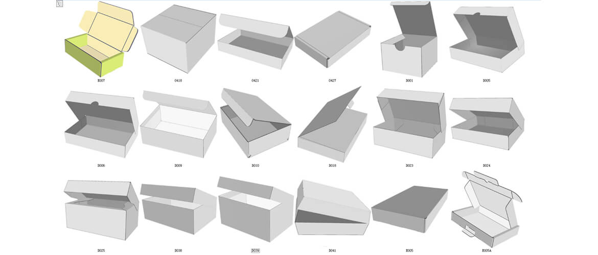 mailer box structures