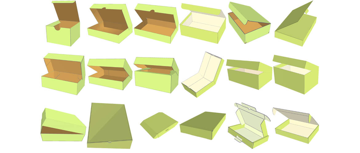 more box template of cardboard mailer boxes