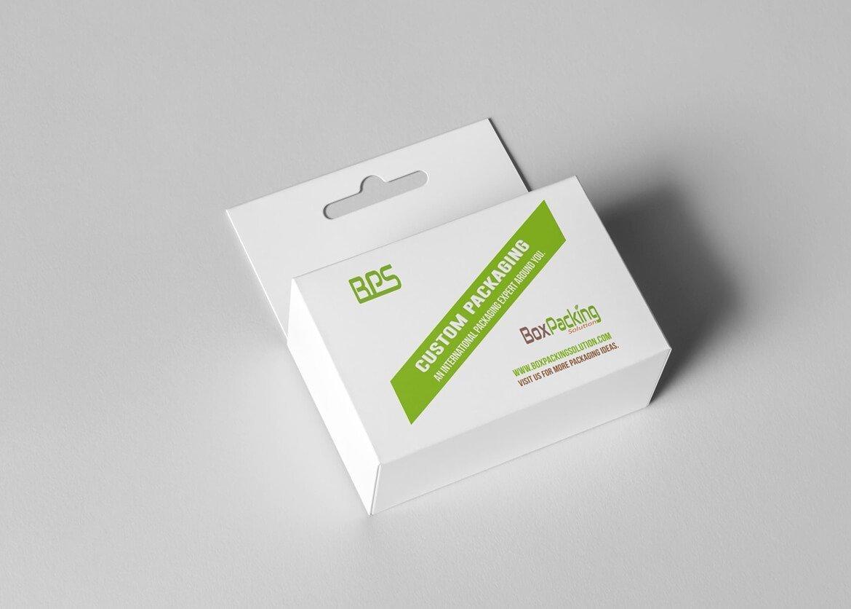 personalized cardboard box with hangtab