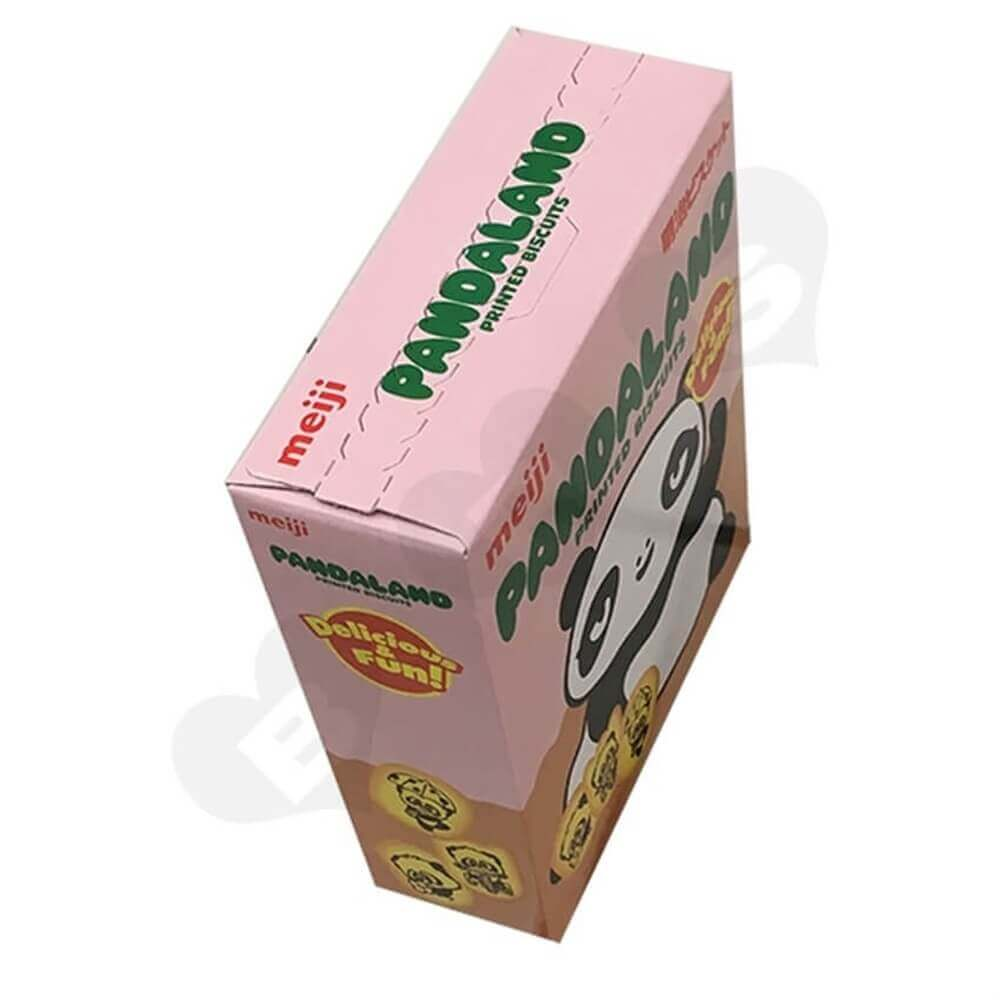 printed biscuit packaging box Sideview Two