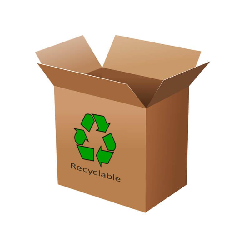 recycled cardboard material RSC carton box