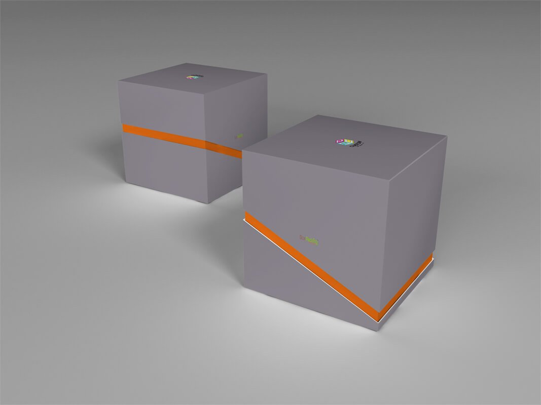 specialty paper coated rigid box mockup