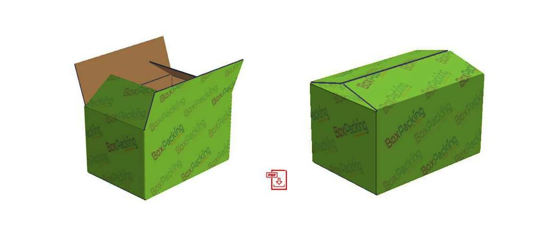the regular slotted carton box template design