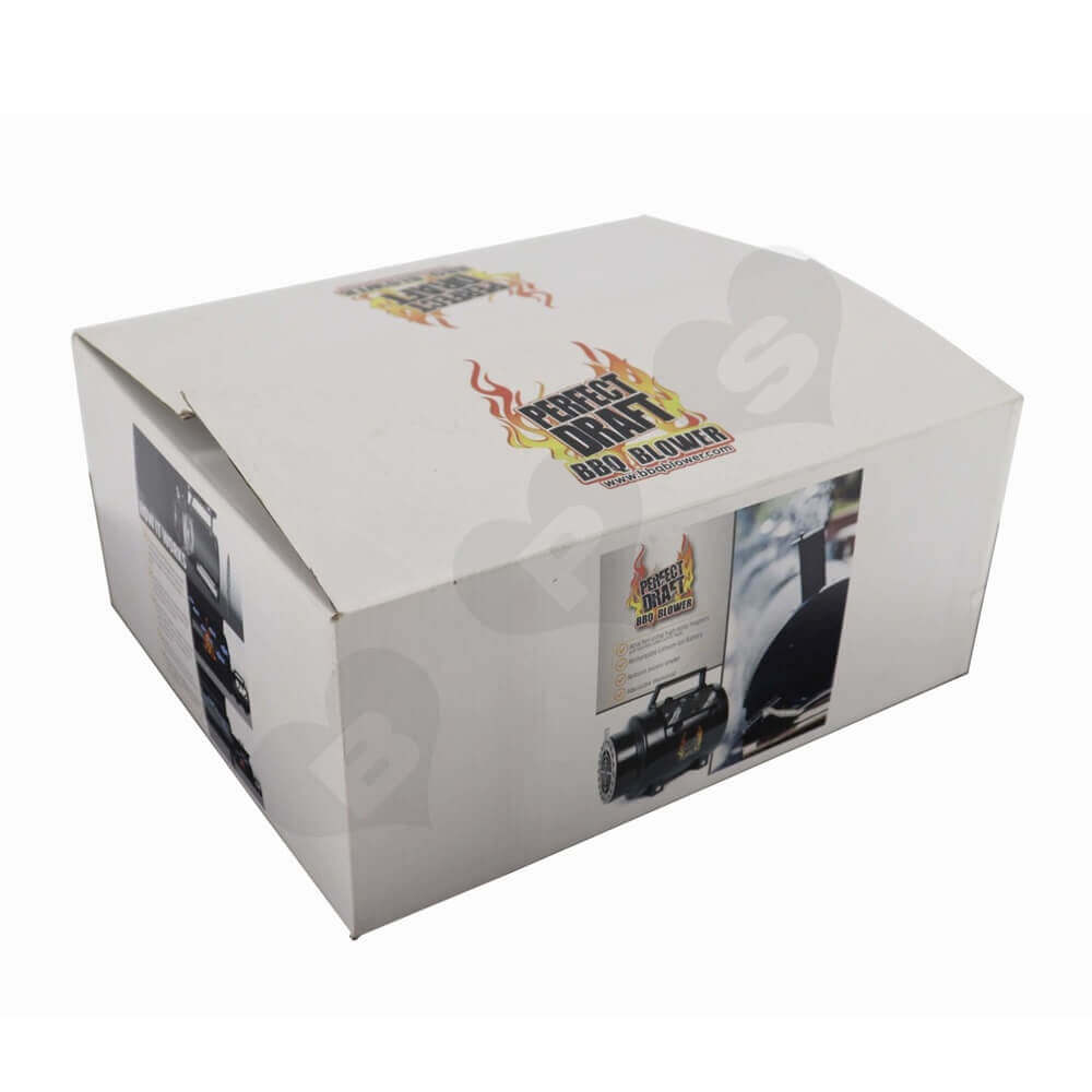 Bbq Blower Corrugated Packaging Boxes Side View Four