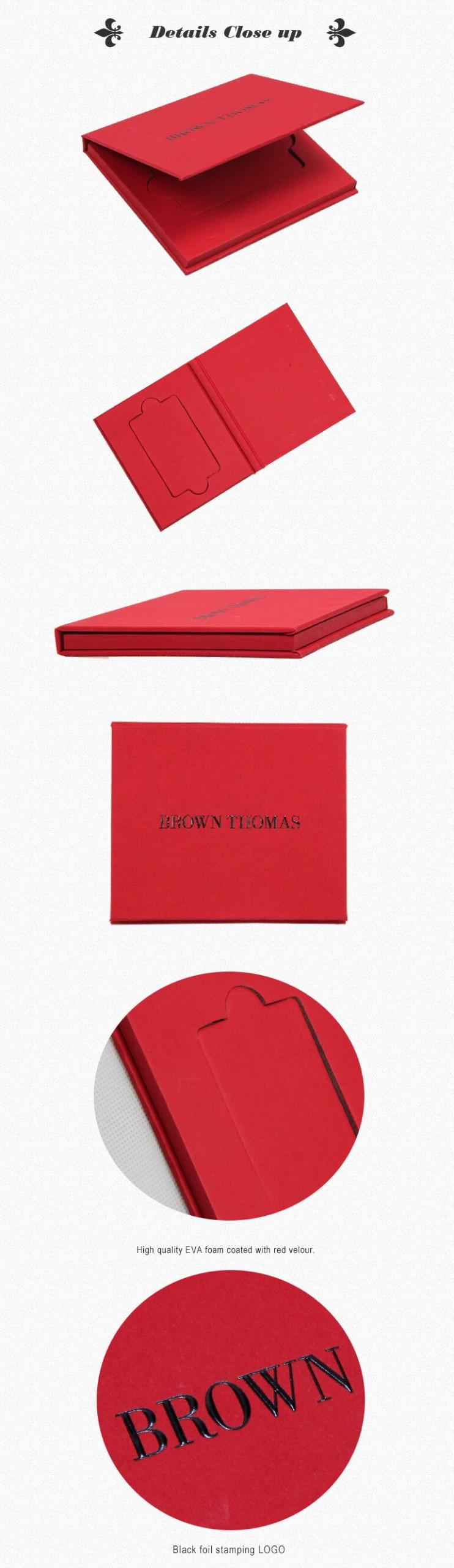 Black Foil Stamping Member Card Packaging Box