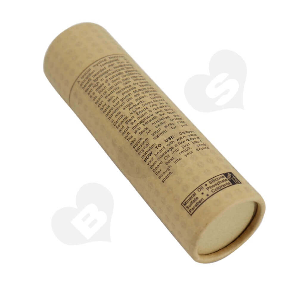 Brown Printed Essential Oil Packing Tube Side View Four