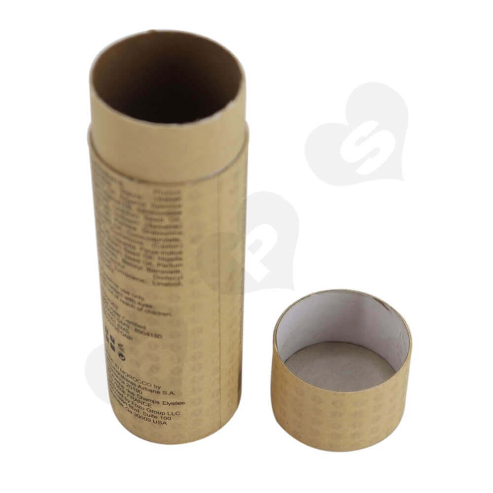 Brown Printed Essential Oil Packing Tube Side View One