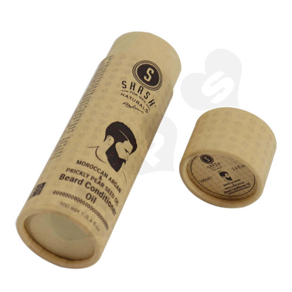Brown Printed Essential Oil Packing Tube Side View Two