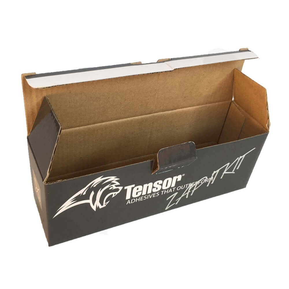 Canister Adhesive Packaging Box Side View One