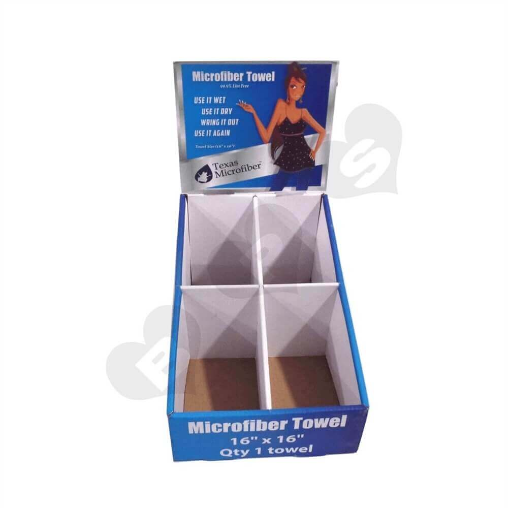 Car Towel Counter Display Box Sideview One