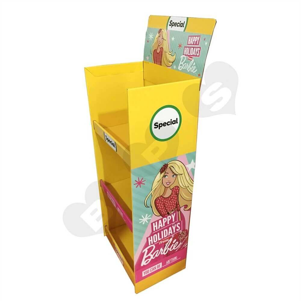 Cardboard Barbie Display Boxes Sideview Three