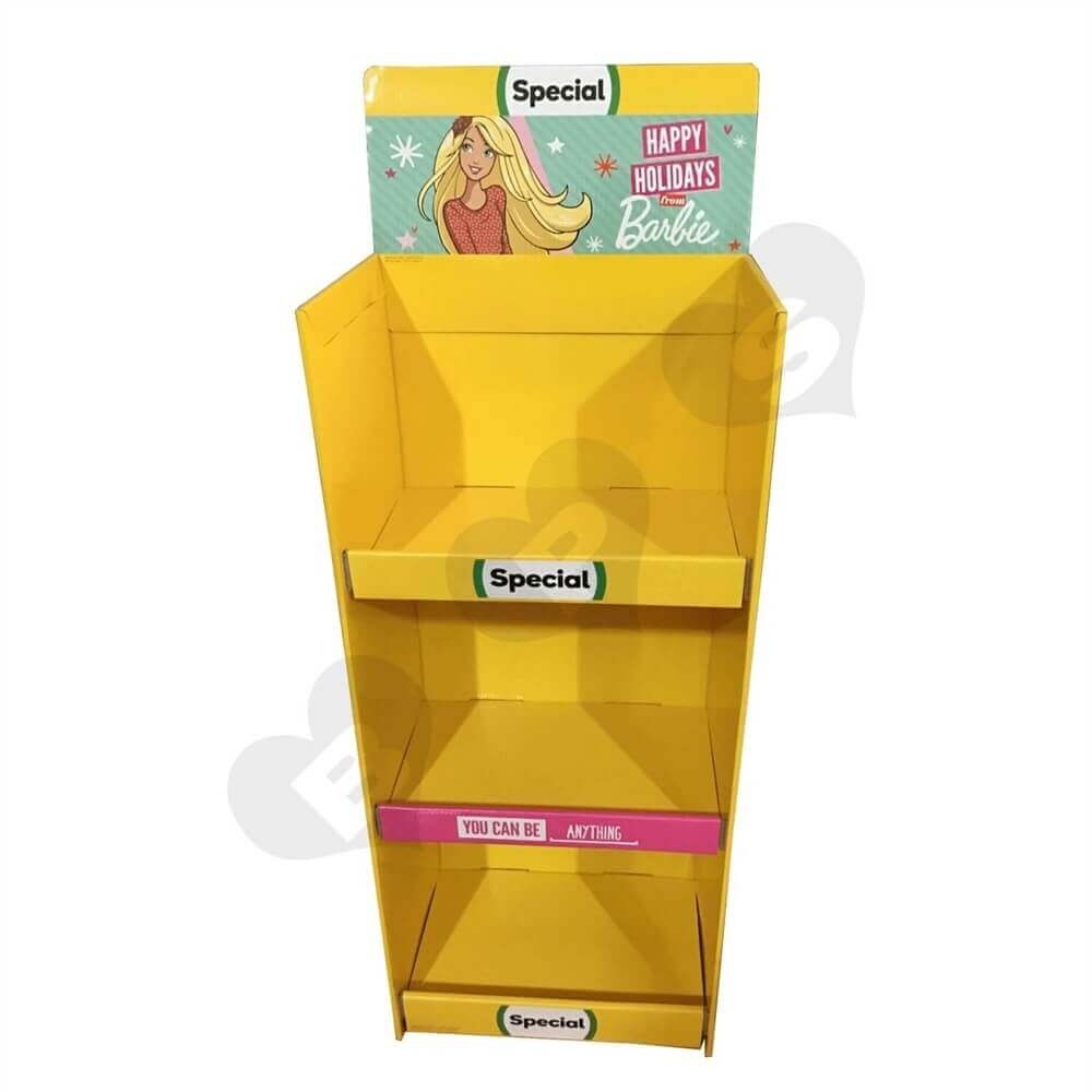 Cardboard Barbie Display Boxes Sideview Two
